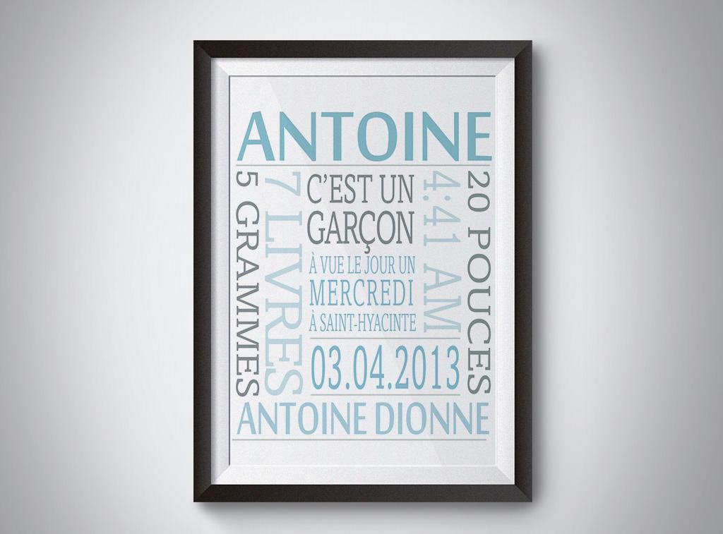 Fiche de naissance Antoine